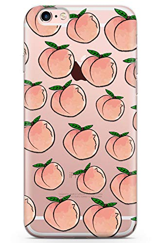 iPhone 6 Case, iPhone 6s Life'S A Peach Phone Case by Casechimp® | Ultra Thin Lightweight Gel Silicon TPU Protective Cover | Fruity Pattern Summer Tropical Food