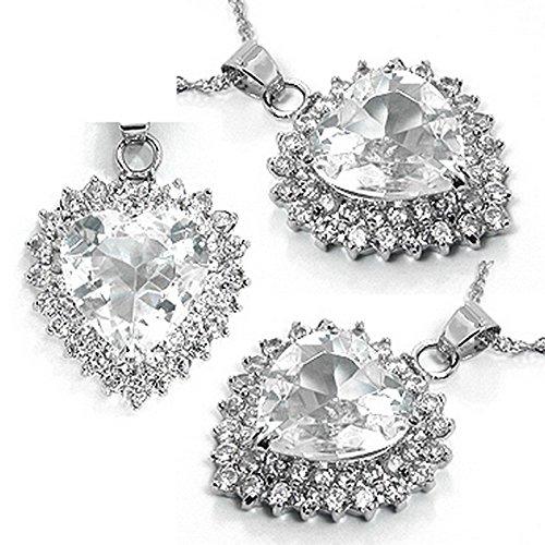 Beau Anhänger geschliffenem Herzen im Stil von Kate Middleton Farbe Diamant