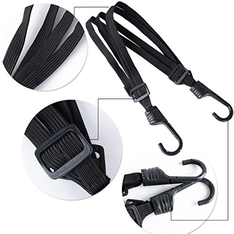 Noir /Équipement de v/élo//Moto Cisixin Filet /à Bagages Araign/ée /élastique avec 6 Crochets
