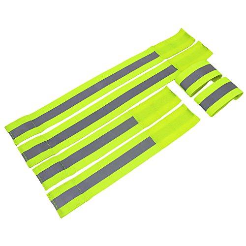 6st Schnapparmbänder Reflektorbänder, AutoDog Armband lang (30*5cm) kurz (45*5cm) mit Klettverschluss für Sport Kinder Haustiere