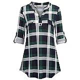 VEMOW Heißer Frauen Damen Sommer Chiffon Kurzarm Freizeithemd Tops Bluse Perfect Tee T-Shirt(Y5Grün, EU-46/CN-XL)