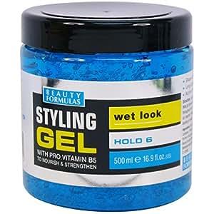 Beauty Formulas Styling Gel Wet Look with Pro vitamin B5, 500ml