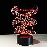 Goney 3D Nachtlicht DNA bunte Fernbedienung Touch führte kreative Geschenk Tischlampe (Farbe : Touch)