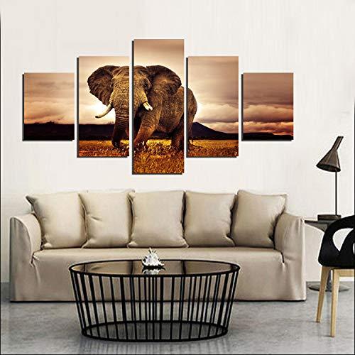 aicedu Pinturas de Elefantes para la Sala de Estar Animal Imagen de...
