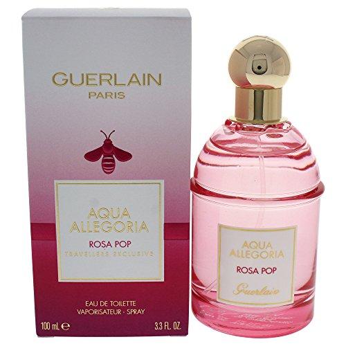Guerlain Aqua Allegoria Rosa Pop Reisenden Exklusive Eau de Toilette Spray für Sie, 100ml Reisende Parfüm