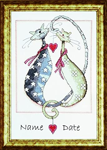 Design Works Purrfect Together Cross Stitch Kit, Multi-Colour