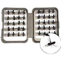 La mosca seca de FUNAN @ atrae 40pcs / lot vuela el cebo de pesca el 1.8cm La pesca negra de la caja de las hormigas negras Fishing Fishing Tackle , black