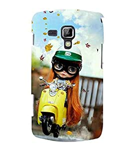 For Samsung Galaxy S Duos 2 S7582 :: Samsung Galaxy S Duos II girl with scooter ( girl, nice girl, beautiful girl, scooter, autumn ) Printed Designer Back Case Cover By Living Fill