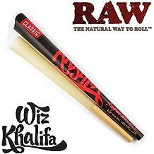 "Trendz Raw Wiz Khalifa ""Supernatural"" - Papel de fumar natural previamente enrollado, 30,48 cm, cono largo"