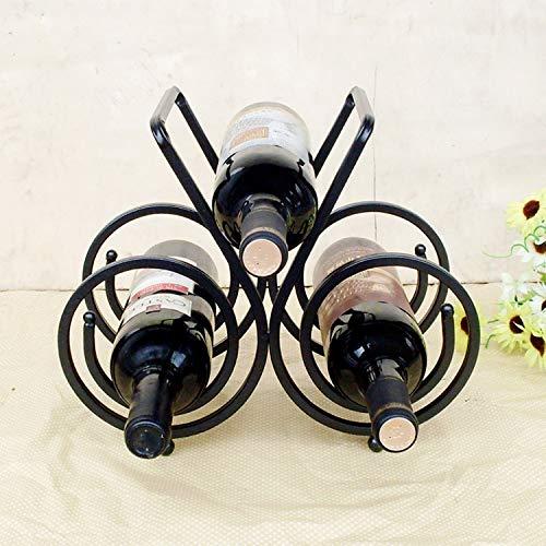 HXLF Wine Rrack 1 Stück Neueste Eisen Weinregal DREI Flaschen Rotwein Flaschenhalter Von Einrichtungsdekoration Design