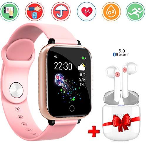 Smartwatch per donna uomo orologio fitness smart watch con auricolare bluetooth fitness tracker attività impermeabile ip67 con cardiofrequenzimetro pedometro notifiche per cellulare android ios