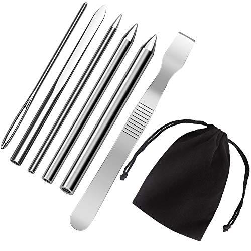 Tragen Ein Kostüm Nähen Sie - AIEX 6 STK. Edelstahl Paracord Nadel FID Set Paracord Schnürstich Nadel mit Glättwerkzeug für DIY Bastelbedarf