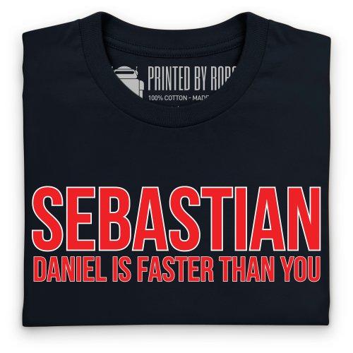 Sebastian Versus Daniel T-Shirt, Herren Schwarz
