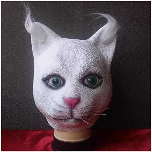 HHSJL Cosplay Verrückte Tiermaske Katze Kaninchen Pferdekopf Fuchs Party Cartoon Latex Masken, Halloween Vampir Party/Kostümpartys/Karneval Kostüm Requisiten Maske,D