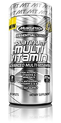 MuscleTech Platinum Multi-Vitamins Capsules - Pack of 90 by MuscleTech