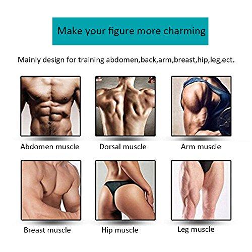 Elektrostimulation,muskelstimulator Muskel Trainer Körper Fitness Training Gewicht Verlust Elektrostimulation Massage-gerät Einfache Fitness Leicht Zu Tragen Für Männer Frauen Geschenk (Schwarz)