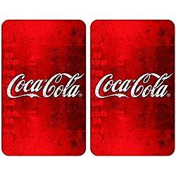 WENKO 2521503100 Plaques de protection Coca-Cola Classic, Multicolore, Verre trempé, 30 x 52 cm