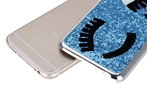 Etsue pour Apple iPhone SE / iPhone 5/5S Coque,Slim-Fit Smart Gillter Armure PC Case Etui pour Apple iPhone SE / iPhone 5/5S,Mode Mignonne Dur Plastique Coque Protection Bumper Shell pour Apple iPhone Bleu