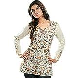 Produkt-Bild: Baumwollentwerfer-Kittel/oberste beiläufige Hemden für Damen