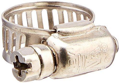5 pièces 8 mm large bande ajusté Ver Gear pour collier de serrage 13-19 mm ton argent