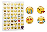 Emoji Paper Stickers Removable Different Happy Faces Kids DIY Stickers 1200PCS 25 Sheets Funny Custom Emoji Sticker For Kids & Adults Tablet Decoration Cupcake Toppers Decorations(Yellow-1200)