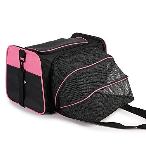 LISH Haustier Erweiterungspaket Hund aus tragbaren Auto Katze rosa Käfig Tasche kann tragbar Sein.