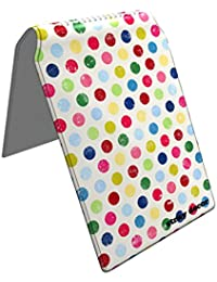 Stray Decor (Polka Dots (Rainbow)) Étui à Cartes / Porte-Cartes pour Titres de Transport, Passe d'autobus, Cartes de Crédit, Navigo Pass, Passe Navigo et Moneo