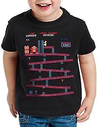 style3 Retro Kong T-Shirt pour enfants donkey geek nes nerd gamer