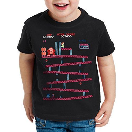 style3 Retro Kong T-Shirt für Kinder donkey geek nes nerd gamer, Größe:152