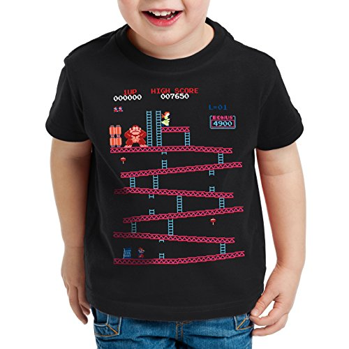 Retro Kong T-Shirt for Kids Donkey Geek NES Gamer