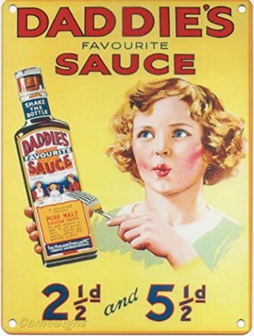 Small Daddies Sauce Metal Advertising Wall Sign Retro Art by The Original Metal Sign Company