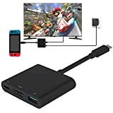Nintendo Switch Adaptateur HDMI USB Type C vers 4K 1080 HDMI Convertisseur Cȃble pour Nintendo Switch / Macbook Pro / Samsung Galaxy S8
