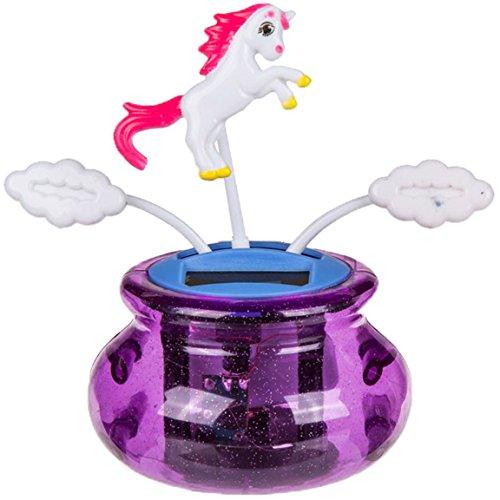 el Figur Einhorn auf Wolke Unicorn Lila pink Mädchentraum Trend ()