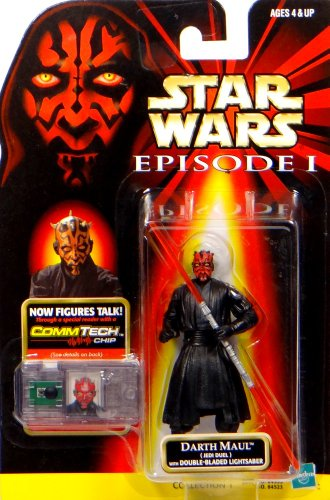 "Preisvergleich Produktbild Darth Maul Jedi Duel + Commtalk Chip - Star Wars Episode I ""The Phantom Menace"" Collection von Hasbro"