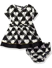 kensie Baby Girls' Wonderland Hearts Woven Dress