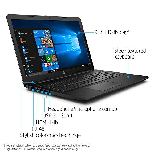 HP 15Q-DY0001AU Laptop (Windows 10 Home, 4GB RAM, 1000GB HDD, AMD Dual Core E2, Jet Black, 15.6 inch)