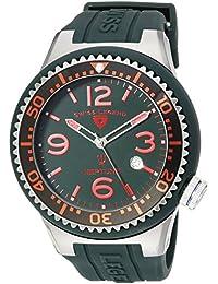 Swiss Legend Caballero 21818S-C-MH Neptune Dark Green Dial Dark Green Silicone Reloj
