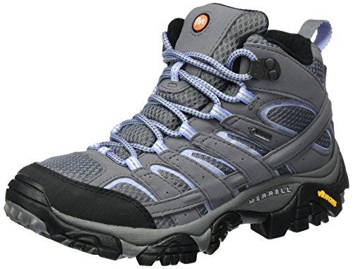Merrell Moab 2 Mid GTX, Stivali da Escursionismo Alti Donna, Grigio (Grey/Periwinkle), 37 EU