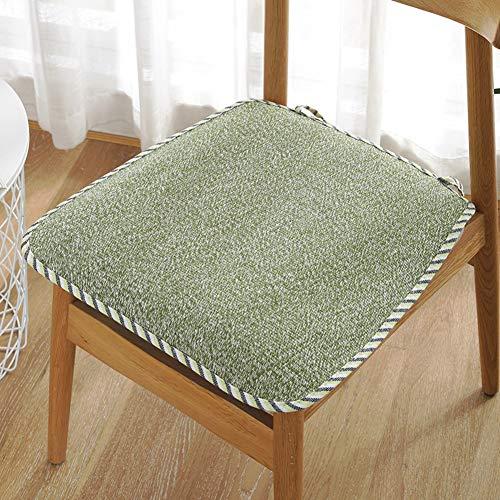 GE&YOBBY Quadratische Stuhl-pad,elch Muster Sitzkissen Mit Krawatten Kleine Rüschen Stuhl Kissen Für Essstuhl Home Dekor Urlaub Dekor -t 40x40cm(16x16inch) -