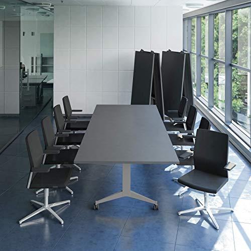 WeberBÜRO Falttisch Klapptisch 3.200 x 1.200 mm Timmy Anthrazit Konferenztisch klappbar rollbar Klapptisch, Gestellfarbe:Silber