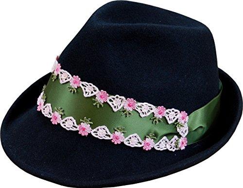Damen Trachten Wollfilzhut Alpin, Farben:grün;Hutgröße:57