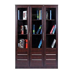 Royaloak Alpha Three-Door Bookshelf (Honey Brown)
