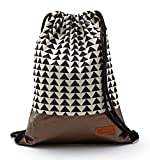 By-Bers LEON Tasche Turnbeutel Rucksack Sportbeutel Gym Bag Gymsack Hipster Fashion (kupfer_triangle)