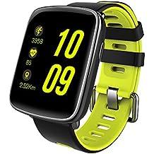 Reloj inteligente, de la marca Gfordt, resistente al agua(IP68), con Bluetooth para Android y iOS, correas reemplazables, monitorización de pulsaciones y sensor de pasos, para hombre y mujer