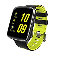Smart Watch,Gfordt Waterproof IP68 Bluetooth Smart Watch for Android and IOS, Straps Replaceable, Monitor Heart Rate and Steps Sensor, Bracelet Wristband Devices with Phone/Remote/Health Function for Ladies/Mens (green)