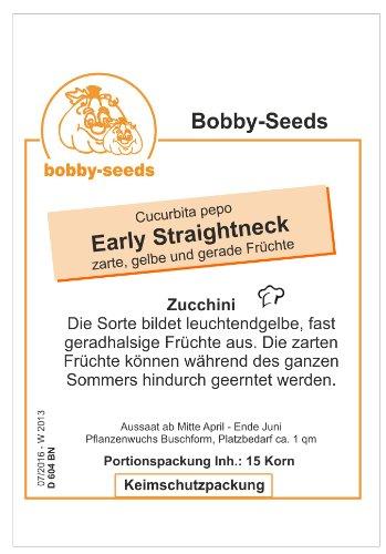 Bobby-Seeds Zucchinisamen Early Straightneck 50 Korn