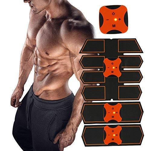 Electroestimulador muscular abdominales EMS abs trainer estimulador muscular masajeador cinturón parche tónico muscular fat burning fitness cinturones para hombres y mujeres energía de la batería