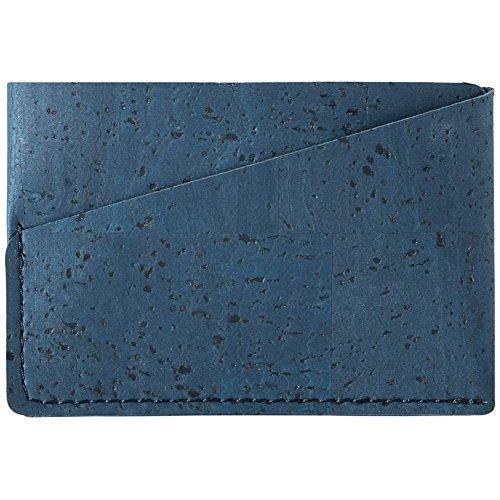Corkor Cartera para Hombre Tarjetas de Crédito Mini Billetera Color Azul