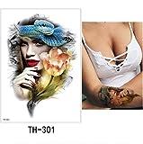 yyyDL tatouages temporaires Autocollant De Tatouage Temporaire Belle Fausse Tatoo...