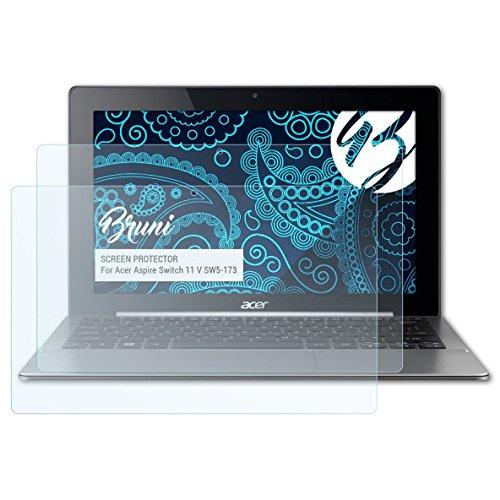 Bruni Schutzfolie kompatibel mit Acer Aspire Switch 11 V SW5-173 Folie, glasklare Bildschirmschutzfolie (2X)